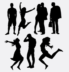 People male and female silhouette vector