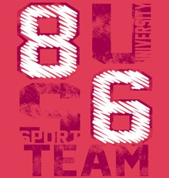 86 U TEAM vector image
