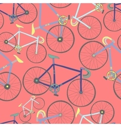 Decorative seamless pattern with racing bikes vector