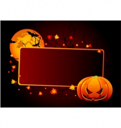 halloween place card vector image