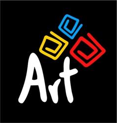 Art symbol vector image