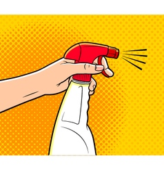 cartoon cleaning spray vector image vector image