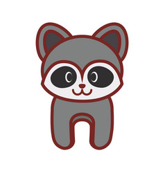 Cartoon raccoon animal image vector
