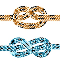 Climbing rope knot symbols vector