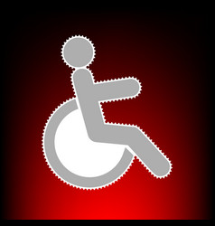 disabled sign postage stamp or old vector image