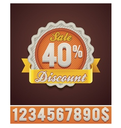 discount badge vector image vector image