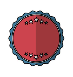 Frame seal isolated icon vector