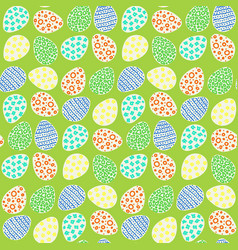 happy easter eggs pattern vector image vector image