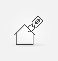 house with price tag icon vector image vector image