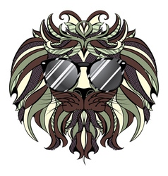 Lion Hipster4 vector image vector image