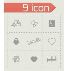 Love icon set vector
