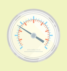 Manometer flat style vector