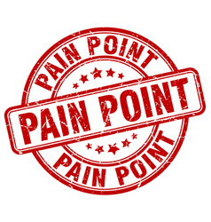 Pain point red grunge stamp vector