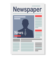 Paper newspaper isolated on white vector