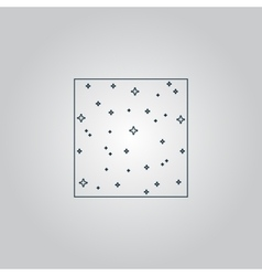 pattern made with stars in square vector image
