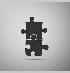 piece of puzzle icon isolated on grey background vector image vector image