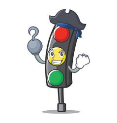Pirate traffic light character cartoon vector