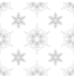 Rosettes Seamless Pattern vector image vector image