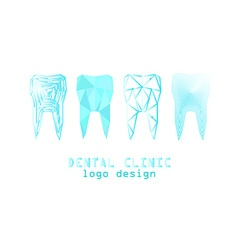 tooth logo set vector image