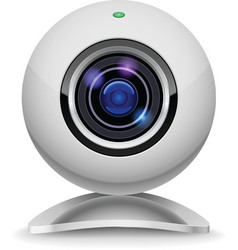 white webcam vector image vector image