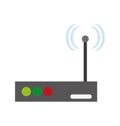 Isolated wifi and internet design vector
