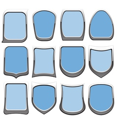 badges blue vector image