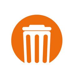 Trash can environment design vector
