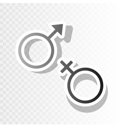 Sex symbol sign  new year blackish icon on vector