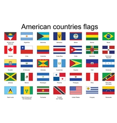 Flags of americas vector