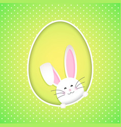 Cute easter bunny background vector