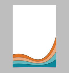 Poster template from colorful curved stripes - vector