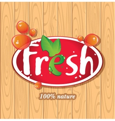 Fresh juices juice drinks vector