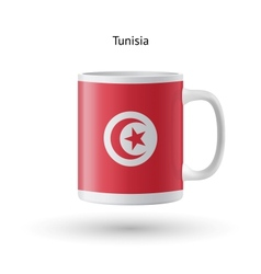 Tunisia flag souvenir mug on white background vector