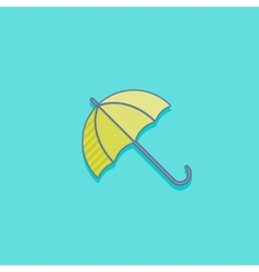 Simple with an umbrella icon flat design vector