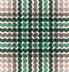 Wave tartan green brown gradient background vector