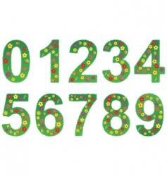 floral number set vector image