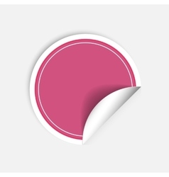 Round stickers with curled edge isolated on vector