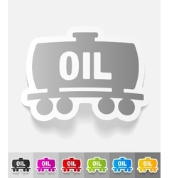 Realistic design element oil tank vector
