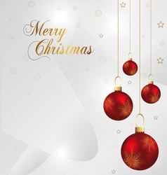 Elegant christmas background with red and gold chr vector
