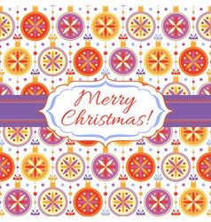 Christmas background with bright balls vector image