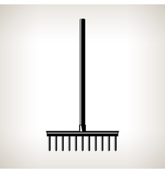 Garden rake garden equipment vector