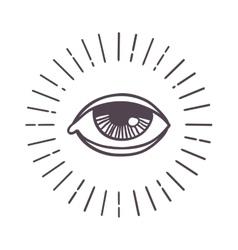Eye sun symbol vector