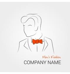 Man with orange bow tie vector