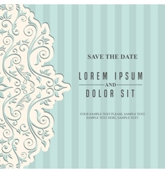 Card icon invitation and save the date design vector