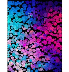 Blue and pink free form with line art texture vector image vector image