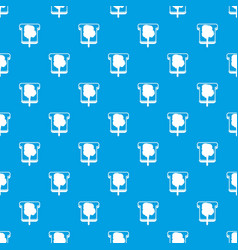 Bread pattern seamless blue vector