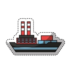cargo ship isolated icon vector image