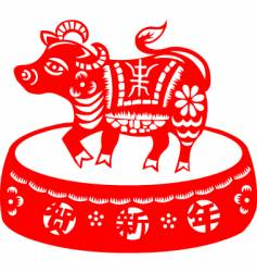 Chinese new year cow vector