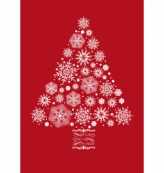 Christmas tree collage vector