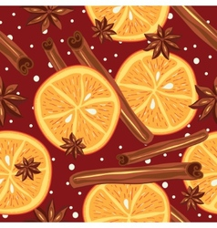 Cinnamon and oranges kitchen background abstract vector